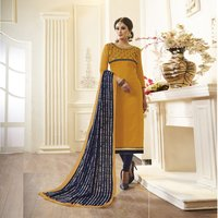 Designer Embroidered straight Salwar Suit