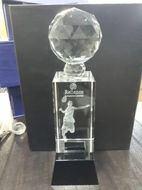 3D Crystal Engraved Trophy