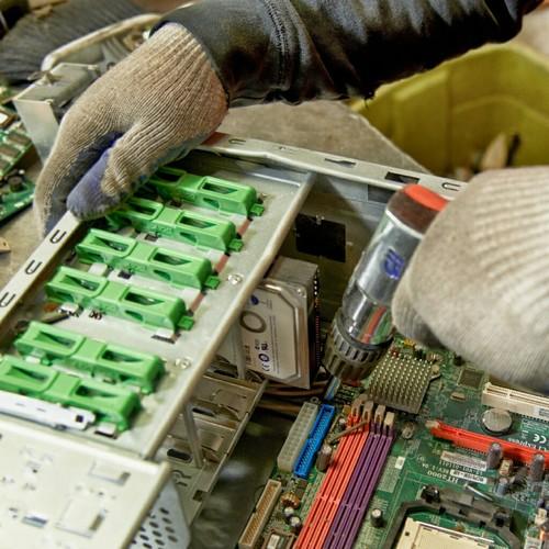 Electronics waste Dismantling