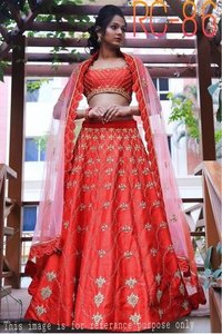 Red Colour Heavy  Lehenga