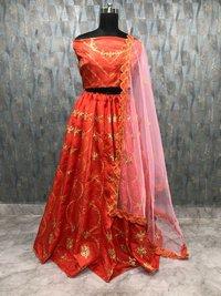Red Colour Heavy  Lehenga