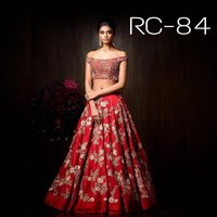 Lehenga Chunni With Golden Dupatta