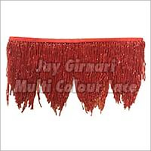 Red Jhalar Laces