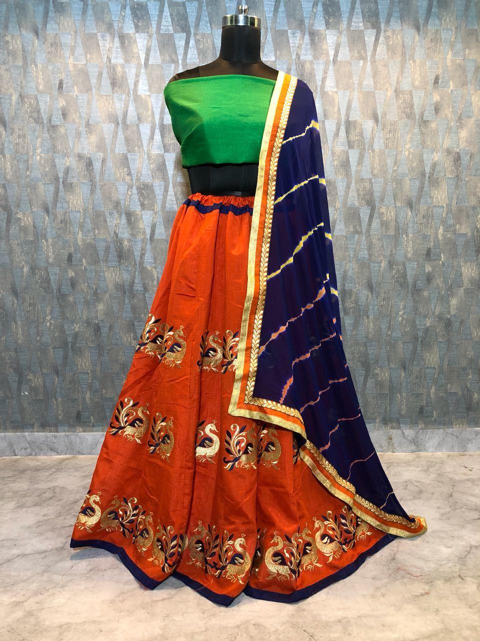 Embroidery Silk Lehenga Choli