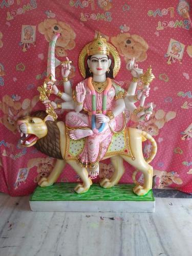 Marble Durga Idol Statue