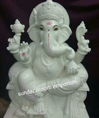 While Marble Ganesh Statue