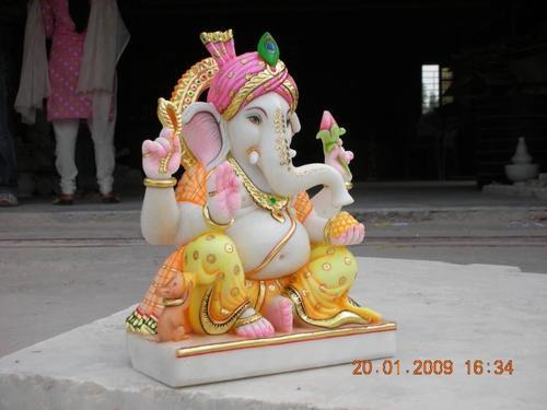 Marble Ganpati Bappa Statue