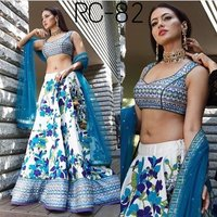 Party Wear Printed Lehenga
