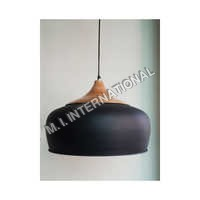 Modern metal & Wood Pendant Light