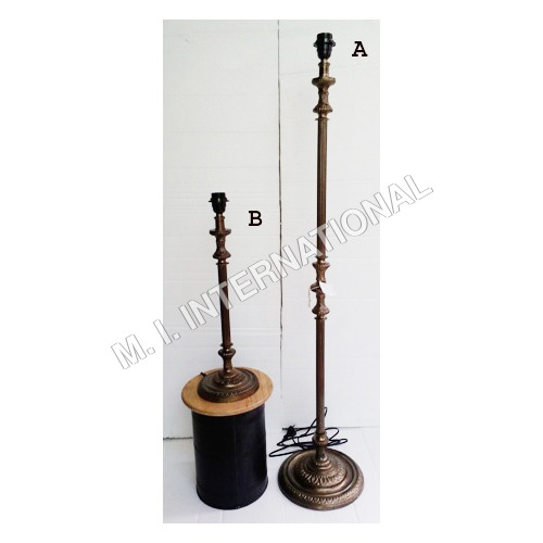 Antique Floor Lamp With Table