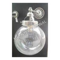 Glass Ball Wall Light