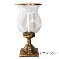 Glass Hurricane Candle Holder