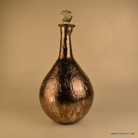 Glass Bottle Decanter, Glass Crystal Antique Cutting Decanter Bottle