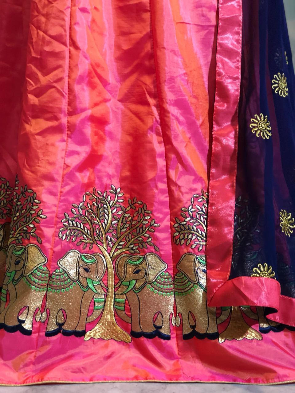 Embroidery Work Lahenga choli
