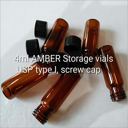 4ml AMBER Storage Vials USP Type I Screw Cap