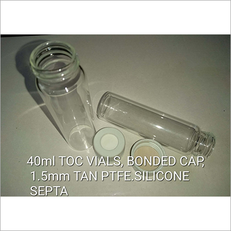 40ml TOC VIALS Bonded Cap 1.5mm TAN PTFE Silicon Septa