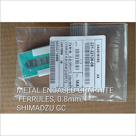 Metal Encased Graphite Ferrules 0.8mm SHIMADZU GC