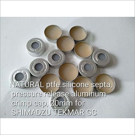 Natural PTFE Silicon Septa Pressure Release Aluminium Crimp Cap
