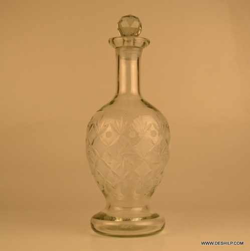 Enthusiast Clear Whiskey Decanter Whiskey Decanter with Glass Ball Set