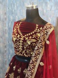 Heavy Wedding Maroon Colour Lehenga Choli