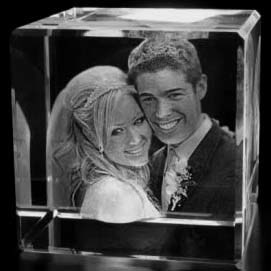 3D Glass Photo Cube