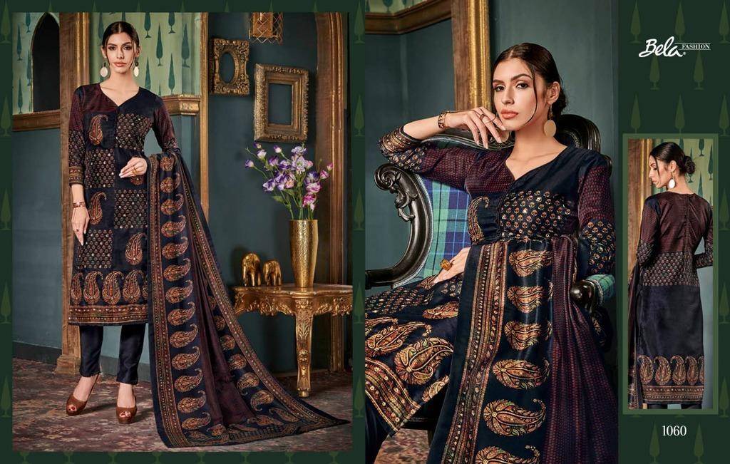 Printed Tussar Silk Salwar Kameez