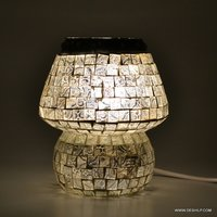 SML Glass Table Lamp, Decorated lamp Antique glass mosaic table lamp showpiece