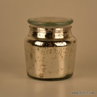 Circleware Small Jar Clear with Color
