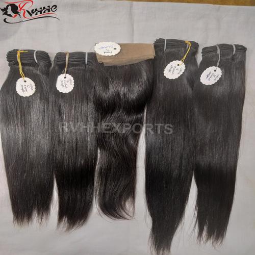 Natural Indian Human Hair Virgin Remi Indian Hair
