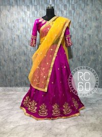Party Wear Designer Pink Colour Lehenga