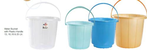 Water Bucket with Plastic Handle