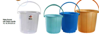 Water Bucket with Plastic Handle