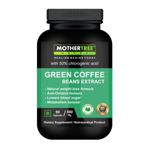 Green coffee beans capsules
