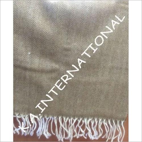 Classic Herringbone Wool Throw