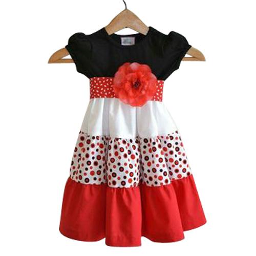 Girls Free Size Pattern Dress