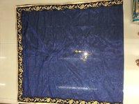 Navy Blue Velvet Embroidered Lehenga Set With blue Net Dupatta.
