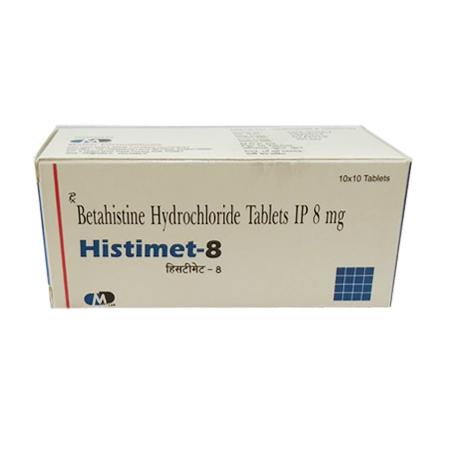 8Mg Betahistine Hydrochloride Tablets IP