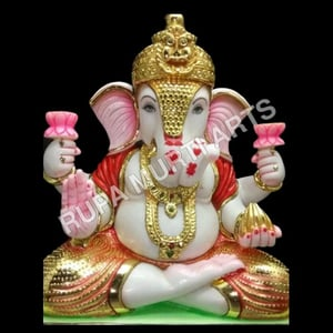 Pure Marble Ganesh Statue