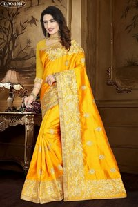 Embroidered Work Silk Sarees