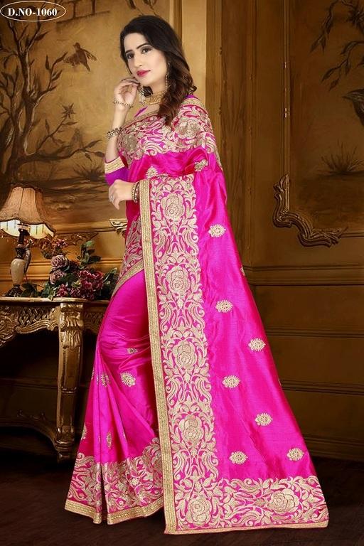 Embroidered Work Silk Sarees