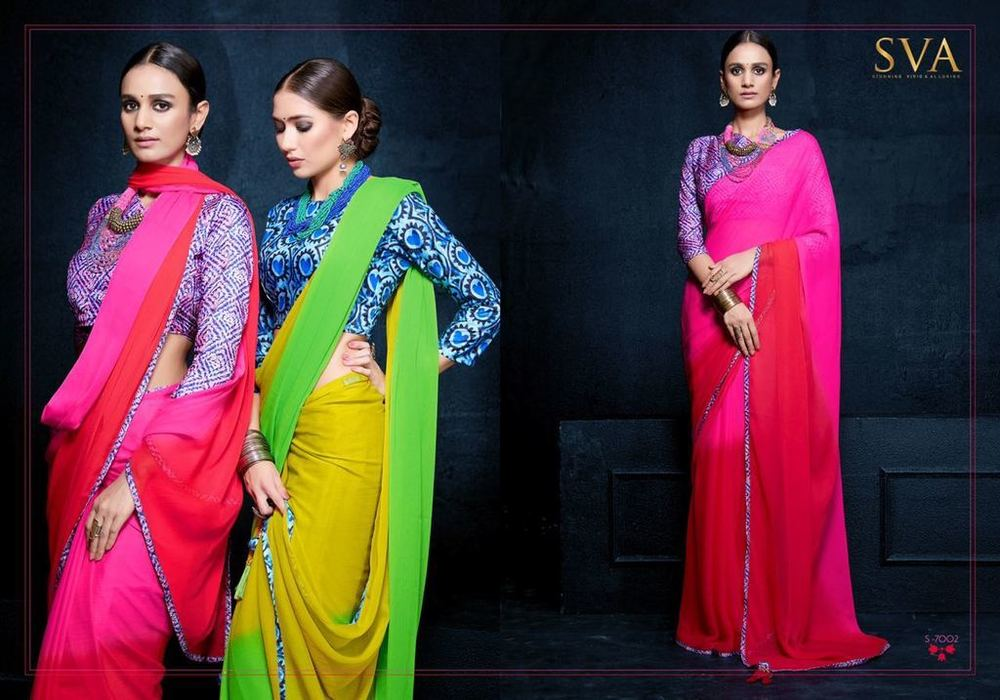 7491e03d0c0930 Fancy Plain Sarees With Print Blouse - Fancy Plain Sarees With Print ...