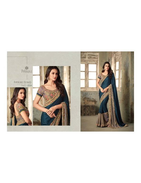 Fancy Work Designer Silk Sarees