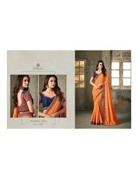 Fancy Work Designer Silk Sarees