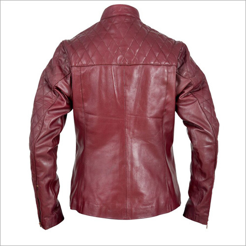 Red Leather Mens Jacket