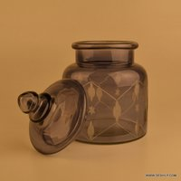 Glass jar Decorative Glass Jars Suction Glass Jar with lid Mason Jars Squash & Juice Glass Bottle
