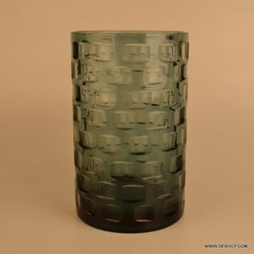 Color full Cut Glass jar Decorative Glass Jars Suction Glass Jar
