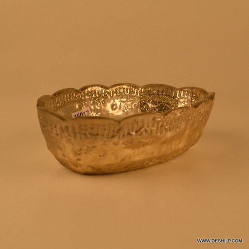 Silver Bowl clear footed glass bowl