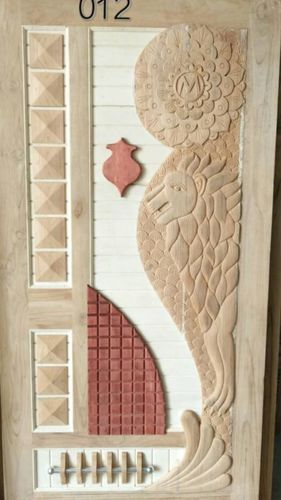 Stylish Entrance Wooden Door