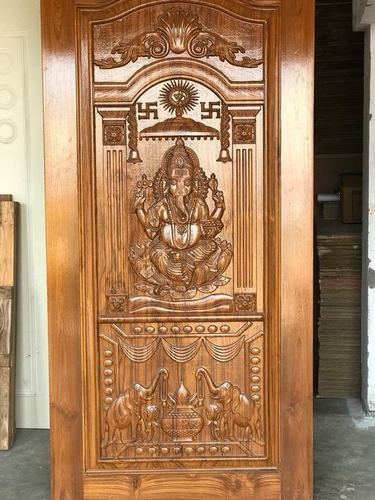 Ganesh Design Wooden Door