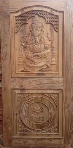 Ganesh Design Wood Door